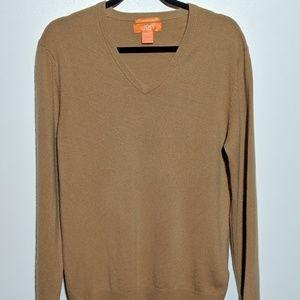100% Cashmere Brown Sweater Size Medium